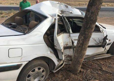 تصادف مرگبار امروز در کرمانشاه باعث مرگ ۲ نفر شد