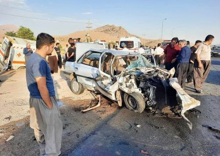 تصادف مرگبار آمبولانس و پژو در جاده کرمانشاه به روانسر هفت مصدوم داشت