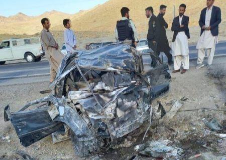 تصادف مرگبار اتباع بیگانه غیرمجاز در مسیر زاهدان- بم هفت کشته برجا گذاشت