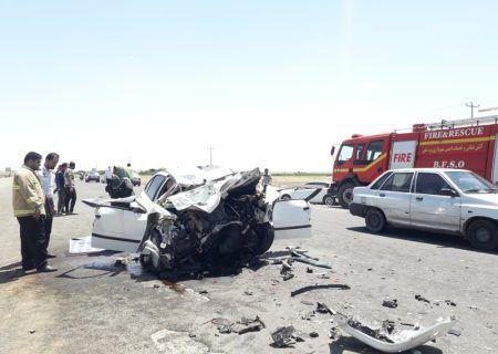 تصادف محور بجستان-بردسکن یک کشته از خود برجا گذاشت