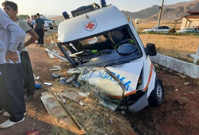 خبر تصادف مرگبار امروز آمبولانس و پژو در جاده کرمانشاه