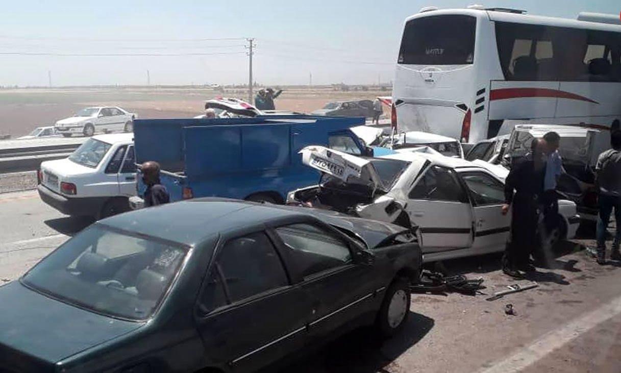 خبر تصادف مرگبار زنجیره ای امروز آزاد راه کرج-قزوین