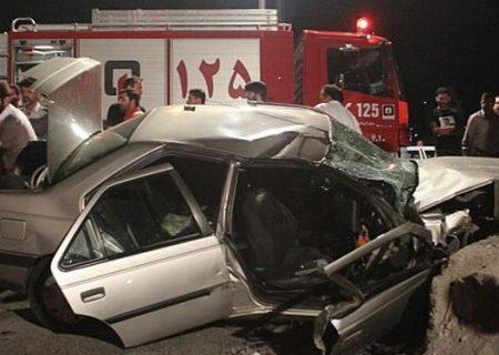 تصادف در جاده یزد-مهریز یک کشته و چهار مصدوم از خود برجا گذاشت