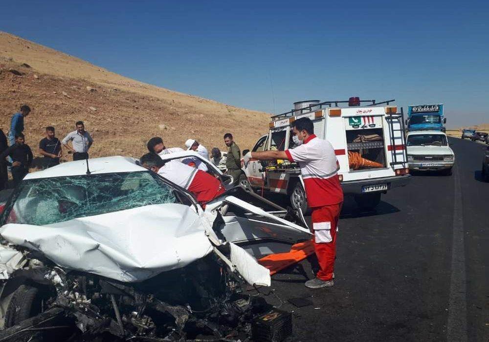 تصادف محور مشهد اردهال کاشان ۲ کشته و ۴ مصدوم داشت