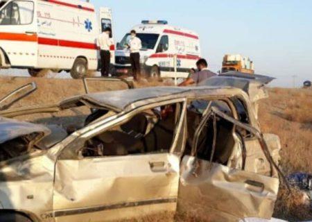 تصادف خودرو در سبزوار ۲ کشته از خود برجا گذاشت