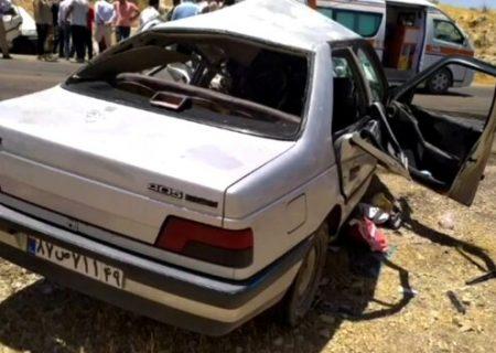 تصادف مرگبار یاسوج-اصفهان یک کشته و ۴ مصدوم از خود برجا گذاشت