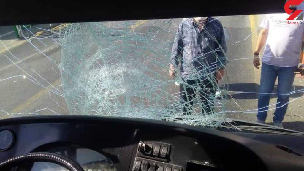 خبر تصادف مرگبار امروز اتوبوس BRT با عابر پیاده