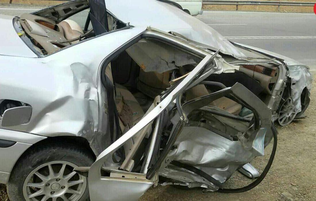 تصادف مرگبار زنجان-قزوین سه نفر کشته و سه نفر  مصدوم داشت