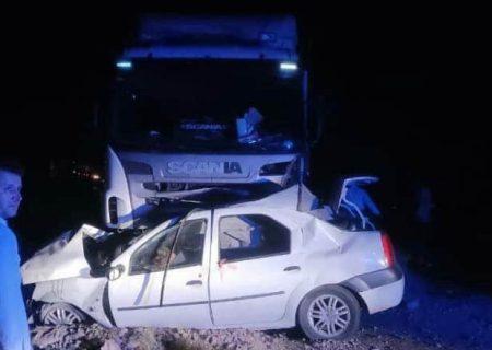 تصادف محور مراغه–هشترود ۳ کشته از خود برجا گذاشت