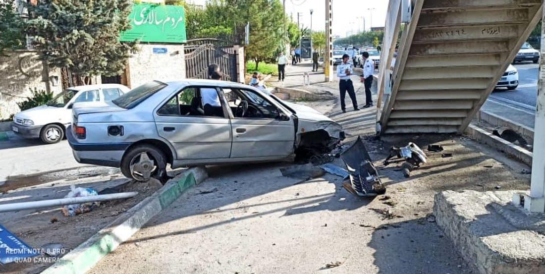 تصادف مرگبار امروز عابر پیاده با خودرو پژو در پایتخت