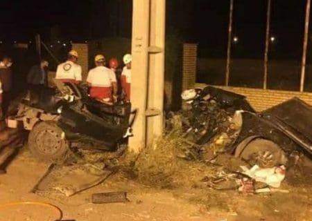 تصادف محور اردبیل-نمین منجر به فوت 5 نفر گردید