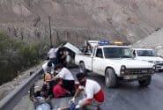 تصادف امروز محور هراز منجر به مصدوم شدن 8 نفر گردید