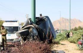تصادف مرگبار دو خودرو در اتوبان شهید کشوری اصفهان