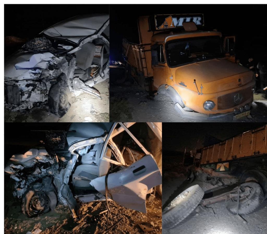 تصادف مرگبار کاشمر-شادمهر یک کشته و ۳ مصدوم برجا گذاشت