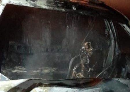 تصادف مرگبار امروز هرمزگان که منجر به آتش سوزی شد جان یک جوان را گرفت
