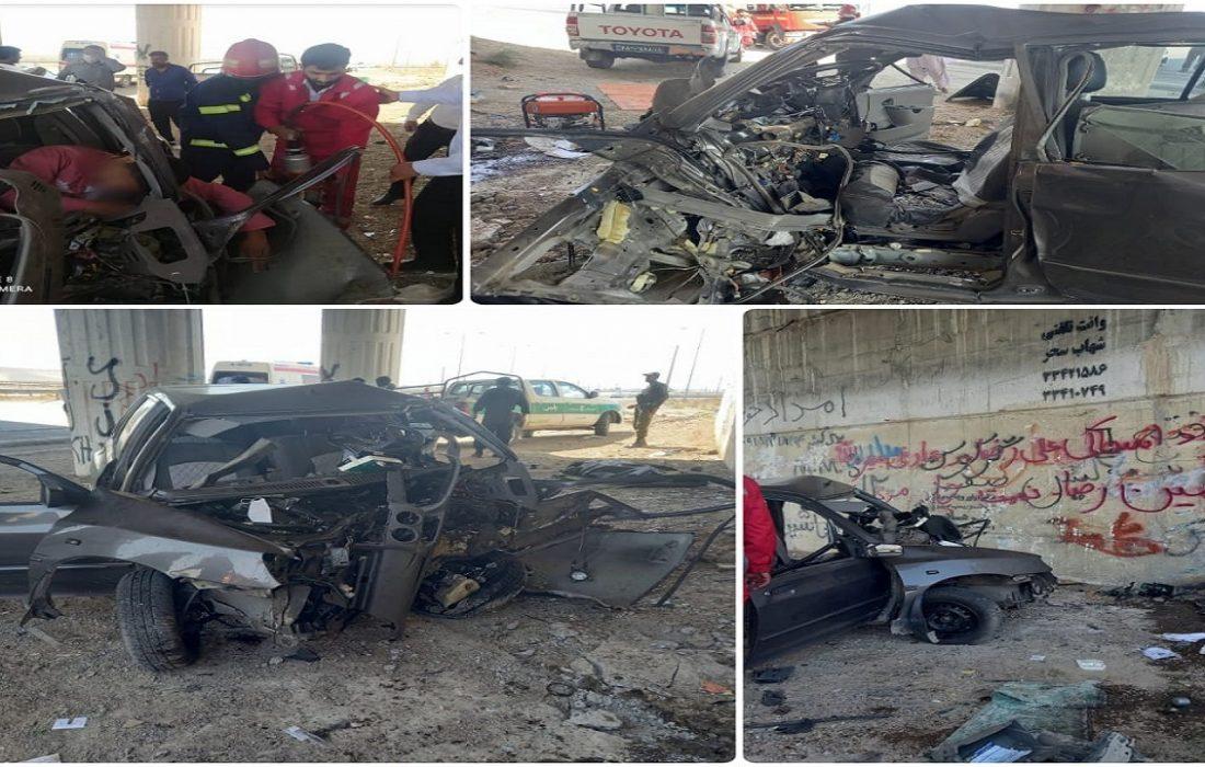 تصادف شدید امروز زاهدان منجر به فوت راننده خودرو گردید