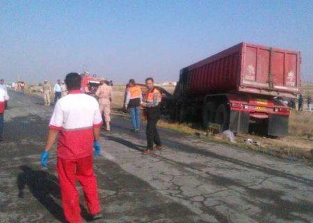 تصادف امروز محور مهاباد-ارومیه ۲ کشته و یک زخمی برجا گذاشت