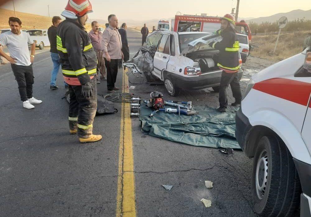 تصادف مرگبار امروز بوکان منجر به کشته شدن یک نفر و زخمی شدن پنج نفر گردید