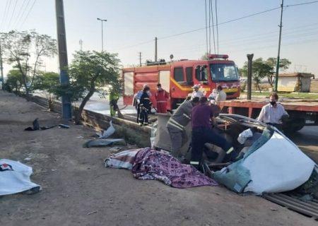 تصادف محور امام رضا در قیامدشت ۲ کشته و ۶ مصدوم از خود برجا گذاشت